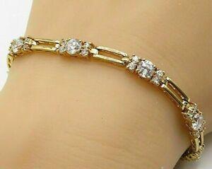 4-50Ct-Round-Cut-VVS1-Diamond-7-5-034-Inches-Tennis-Bracelet-14K-Yellow-Gold-Over