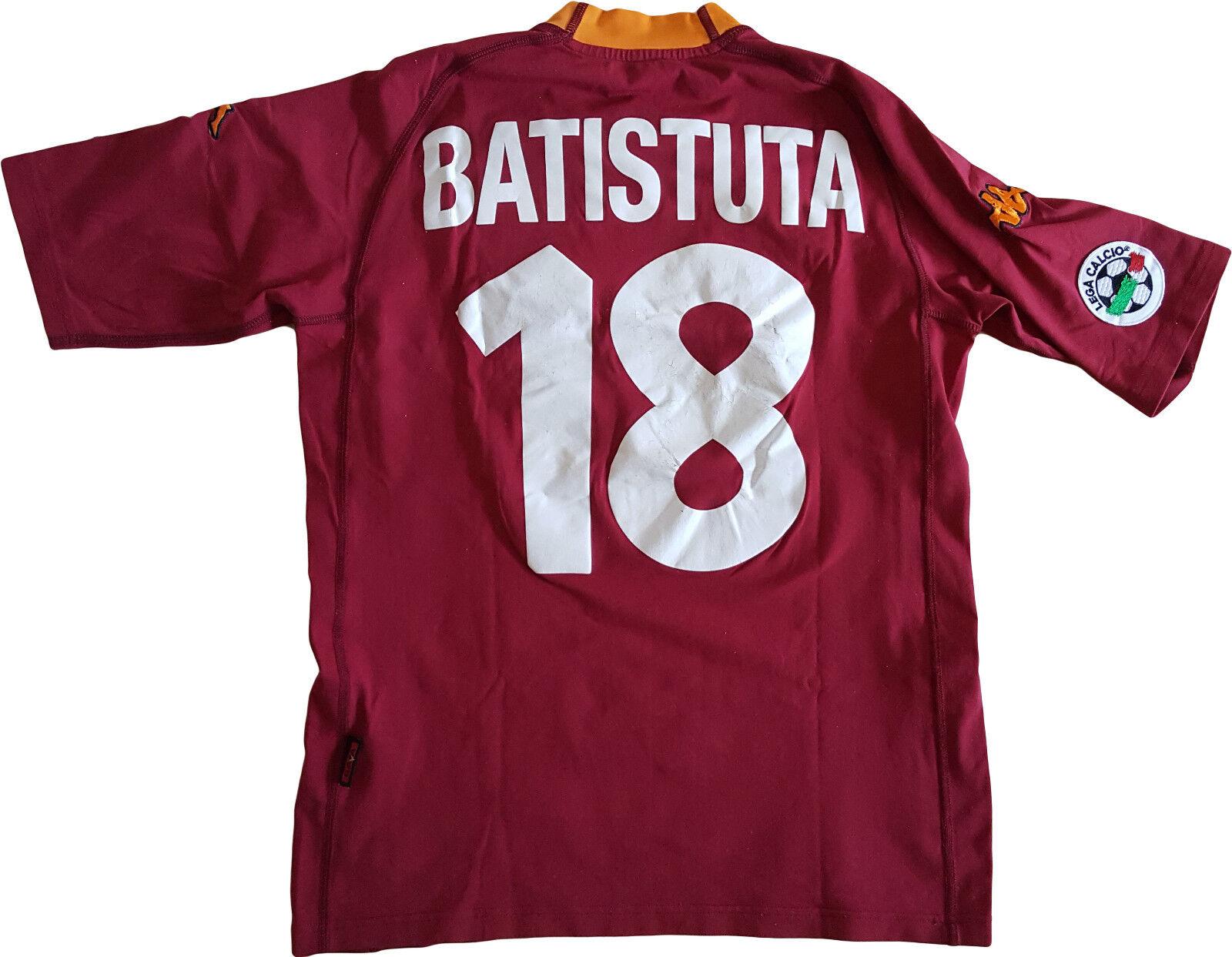Maglia Batistuta ROMA scudetto 2000 2001 Kappa vintage Ina Assitalia L