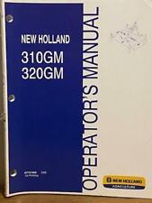 New Holland 310gm 320gm Finish Mowers Operators Manual