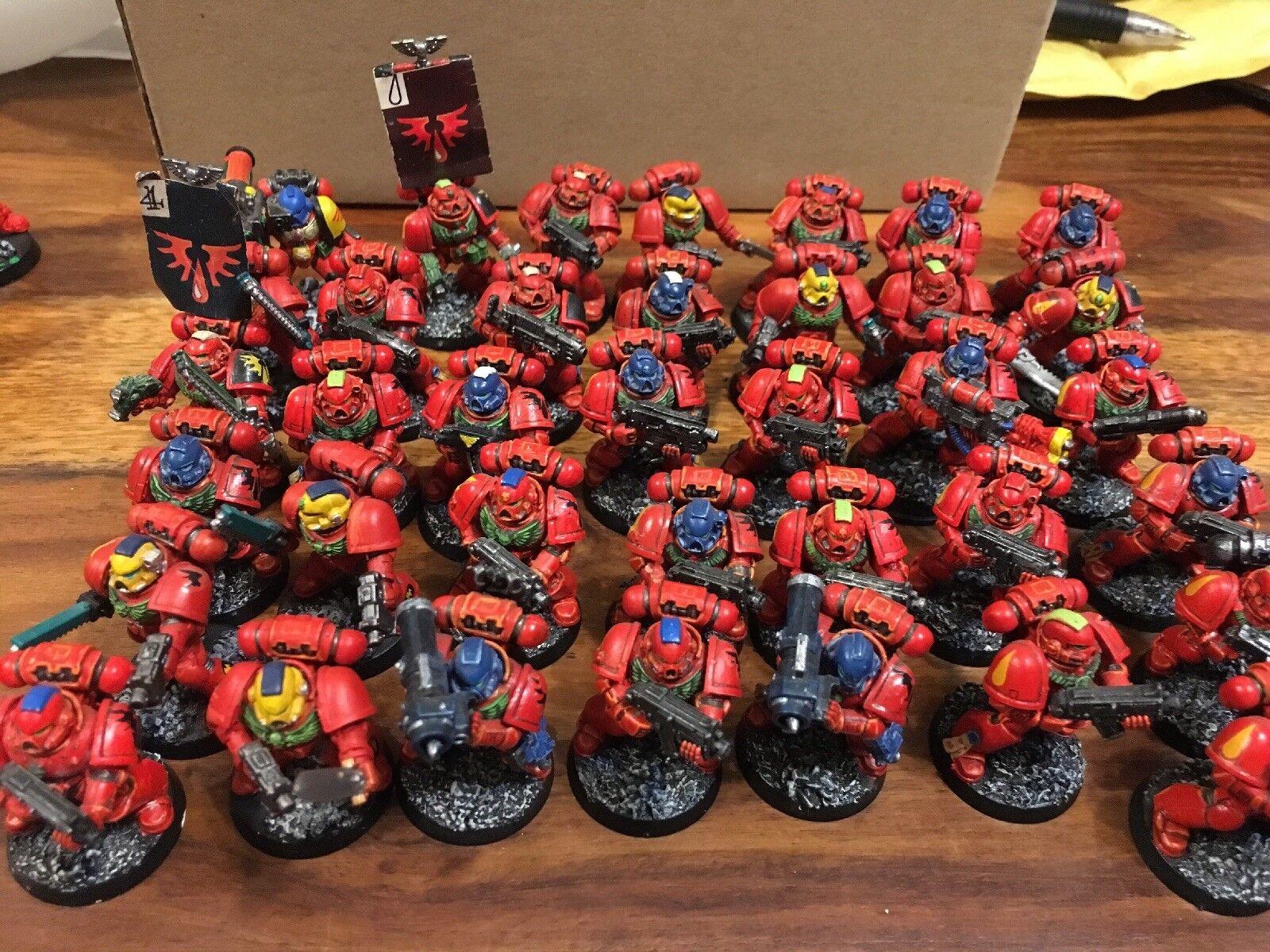 Gli  angoli del sangue spazio Marines X37 ben dipinti in plastica di alcune armi in mettuttio WH40k  prezzi bassi di tutti i giorni