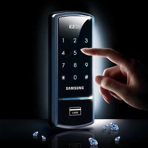 Express-Samsung-Smart-Door-Rim-Lock-SHS-1321-2-KeyTags-English-Manual