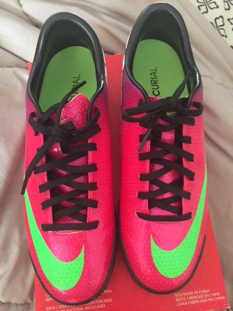 NIKE MERCURIAL VICTORY IV TF ASTRO TURF FOOTBALL SOCCER SHOES Women CR7 Size 6.5