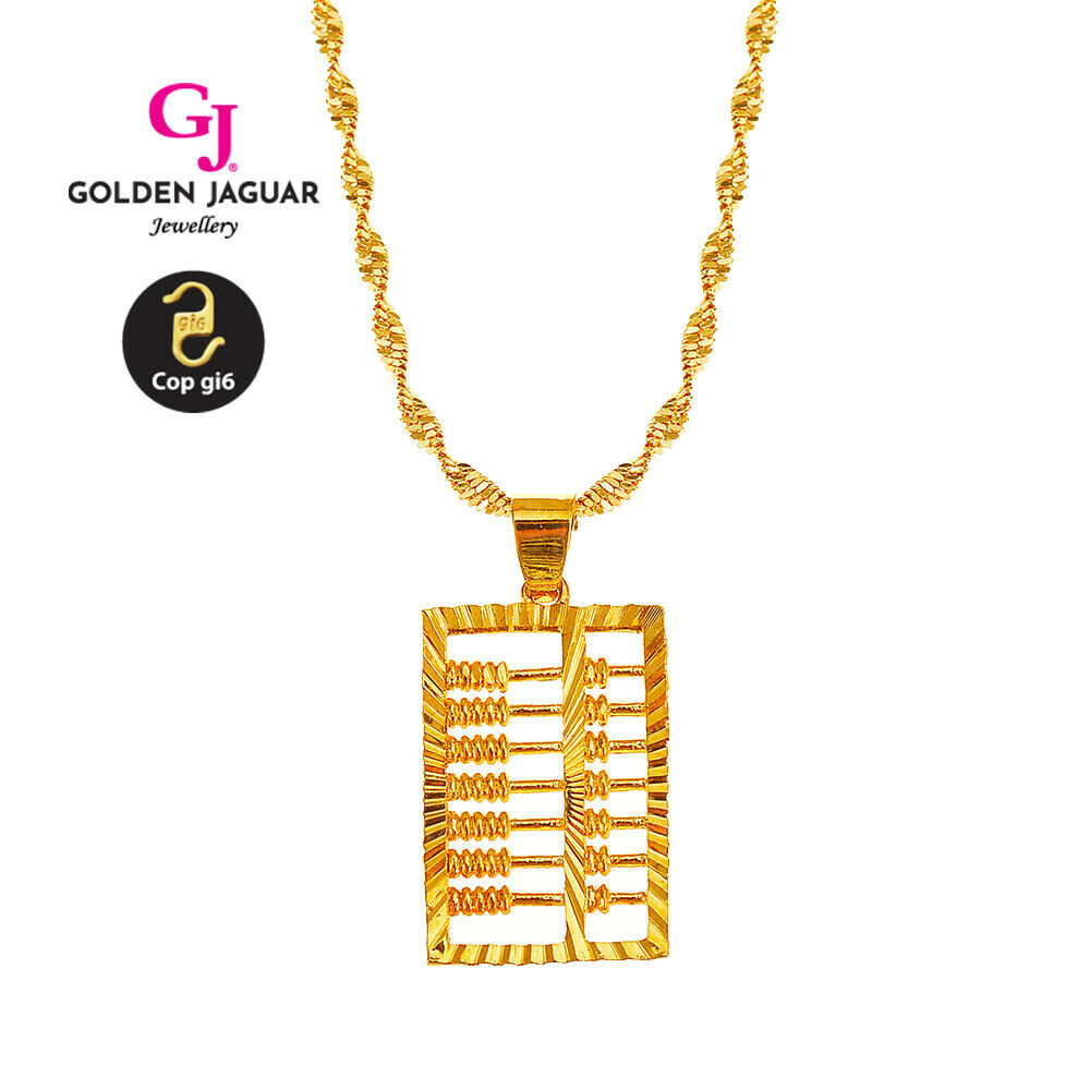 [GJ] 24k Gold Plated necklace pendant meaning Bring Wealth Mens Womens