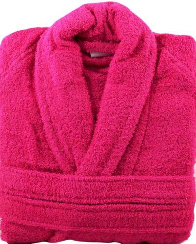 FUCSIA Rosa tessuti a spugna bagno Robe Vestaglia 100/% COTONE TAGLIA MEDIUM