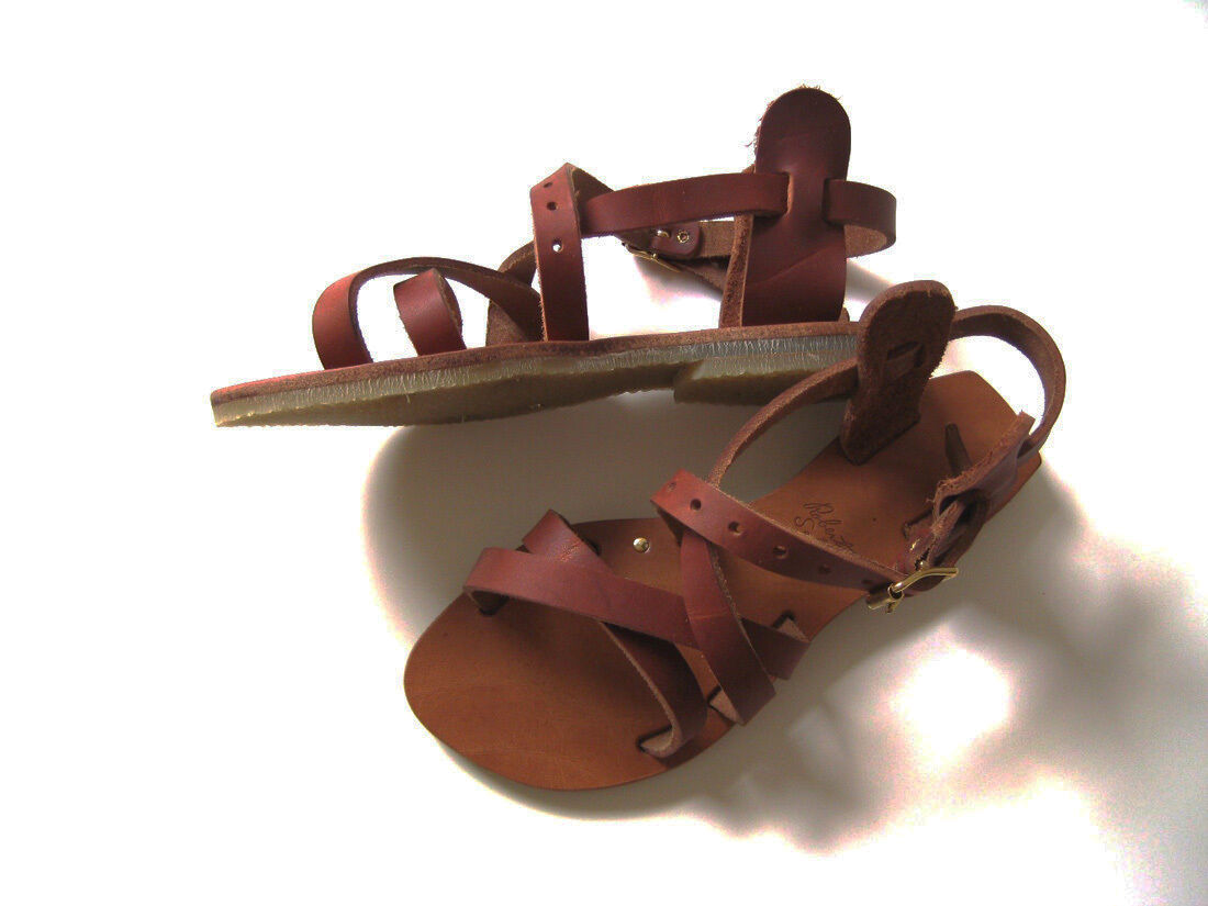 Roberta Settels, Donna  Roman Roman Roman leather sandals, in Natural 37.5 22e9e3