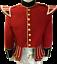 100/% laine mélangée Silver Braid Trim Red Military Doublet Batteur pipe band JACKET