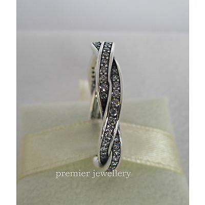 Authentic Genuine Pandora Sterling Silver Clear Cz Ring 190892CZ-56