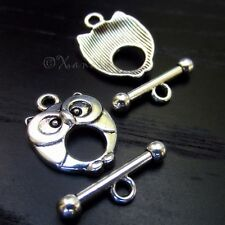5 Sets Wholesale Owl Toggle Clasp - XF2081