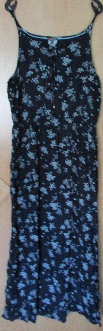 Street One Kleid Maxikleid, blau dunkelblau weiß geblümt, Gr. 44 wie Gr. 46