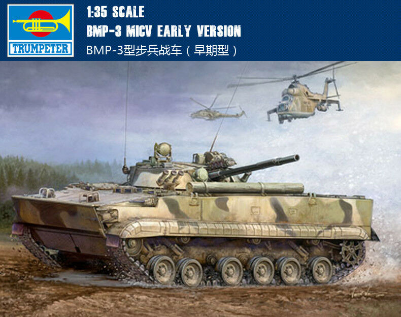 00364 Trumpeter 1 35 Model BMP-3 MICV Early Version Infantry Combat Vehicle Tank