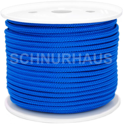 rope cord 5mm PP 400daN Polypropylenschnur 50m blau SCHNURHAUS Mehrzweckseil