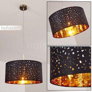 Wohn Ess Schlaf Zimmer Pendel Lampen Vintage Hänge Leuchten Stoff schwarz//gold