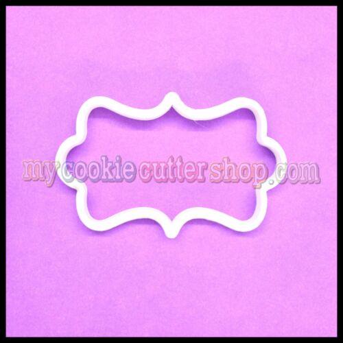 PLAQUE SHAPE COOKIE CUTTER 8cm wide x 4.5cm high
