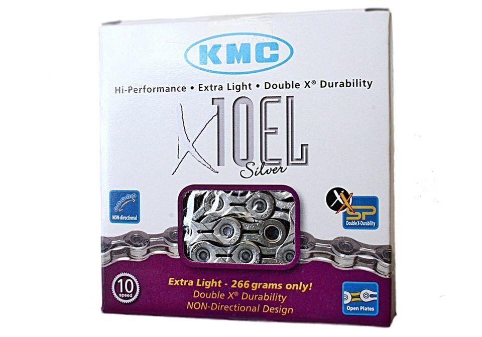 10-fach Kette KMC X10-EL silver für Campagnolo, Shimano & Sram.
