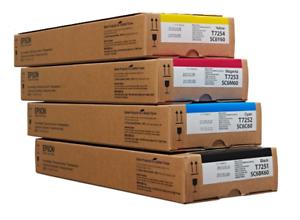 4-x-inchiostro-originali-EPSON-sc-f2000-sc6bk60-t7251-t7252-t7253-t7254-600ml-INK