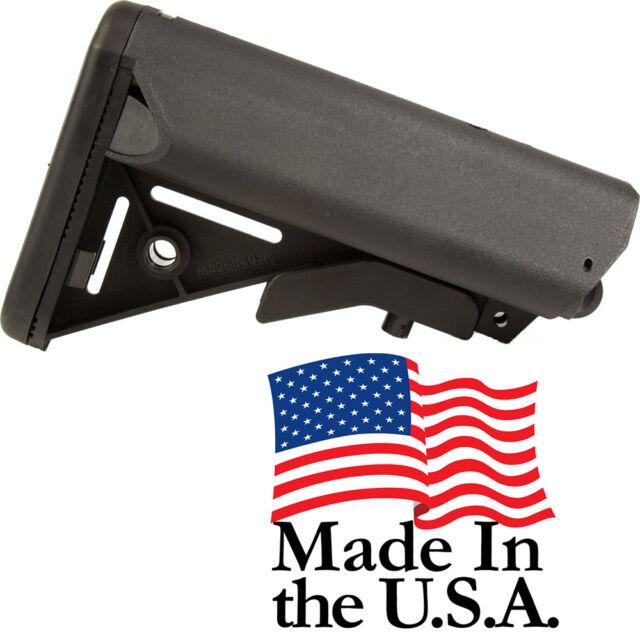 J&E Made in the USA Enhanced SOPMOD Mil-Spec Buttstock in BLACK Tan PS-ST7B