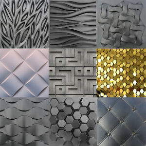 Bekannt 10 pcs Kunststoff Pressform Herstellung der Wand 3D Decor Panels NI95