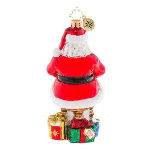 NEW Christopher Radko SENTIMENTAL SCRIBE Santa Christmas Ornament 1019212