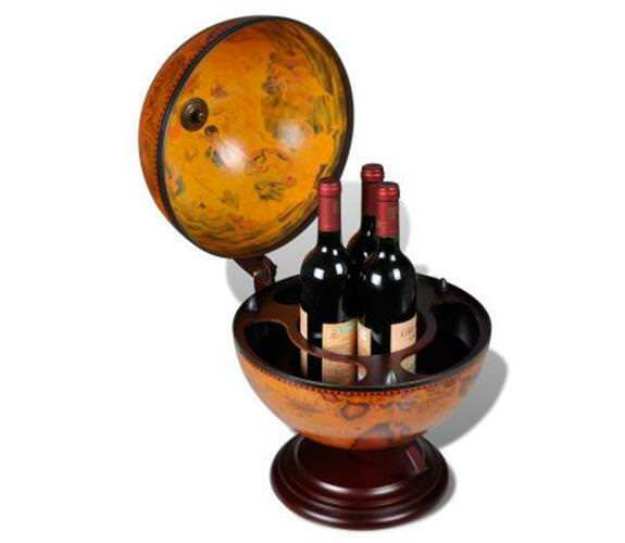 Tabletop Globe Bar embowed Stand WINE LIQUOR Table Stand MINI BAR armoire boissons