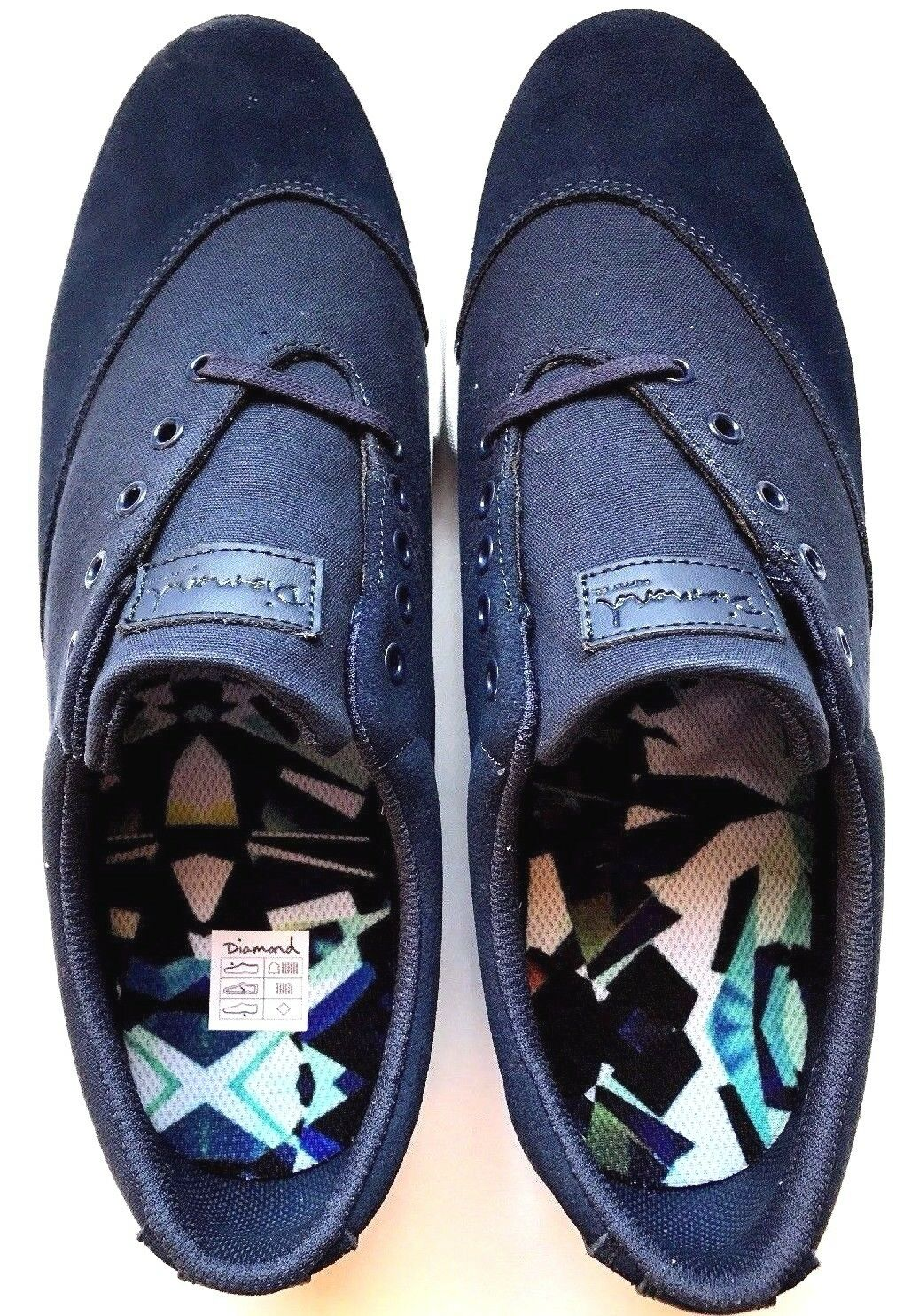 hommes Chaussures Diamond Supply Co Avenue Skateboard Suede Canvas Navy
