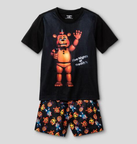 Boys Pajamas Size 10-12-14-16 Five Nights at Freddys TMNT Minion Shirt//short set