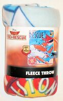 Disney Vintage Planes Fire & Rescue Fleece Throw Blanket 40x50 Race Rescue