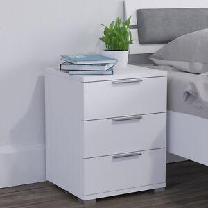 Comodino con cassetti per camera da letto in rovere bianco | eBay