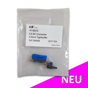 SC PC feldkonfektionierbarer LWL Stecker Glasfaser 250µm 0,9mm - 2 Stück