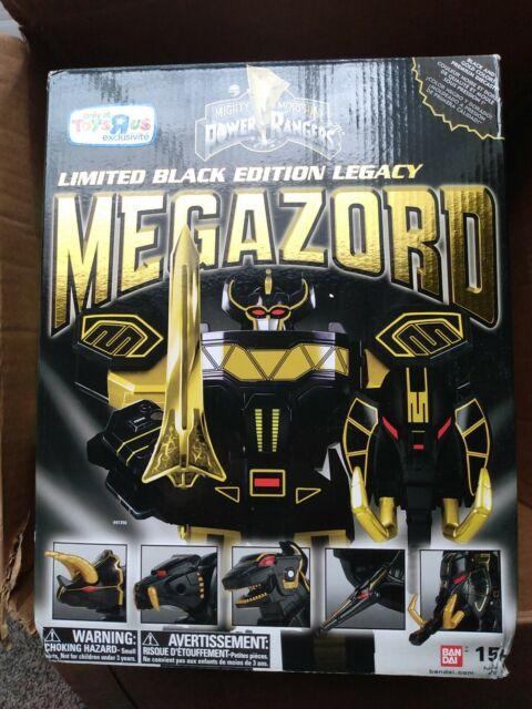 Bandai SDCC 2015 Morphin Power Rangers Megazord Limited Black Edition Legacy Ac…