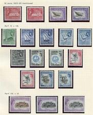 Aden 1953-63 Complete set - all listed shades and perfs SG48/72a MLH cat £446