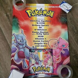 Pokemon The First Movie Soundtrack Promo Poster 18 X 24 Ebay
