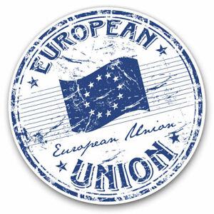 2-x-Vinyl-Stickers-7-5cm-European-Union-Europe-Flag-EU-Cool-Gift-7073