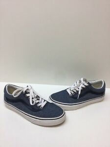 921309989b8 VANS Old Skool Blue Canvas Lace Up Low Top Skate Shoes Men s Size 7 ...