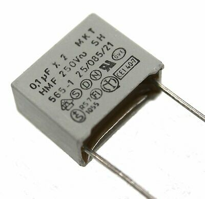 ERO Interference Suppression Film Capacitor 0.1µF 250V Lot of 1 or 3.