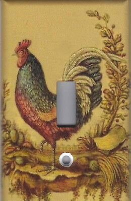 ROOSTER 2 ROOSTER KITCHEN HOME DECOR SINGLE LIGHT SWITCH PLATE eBay