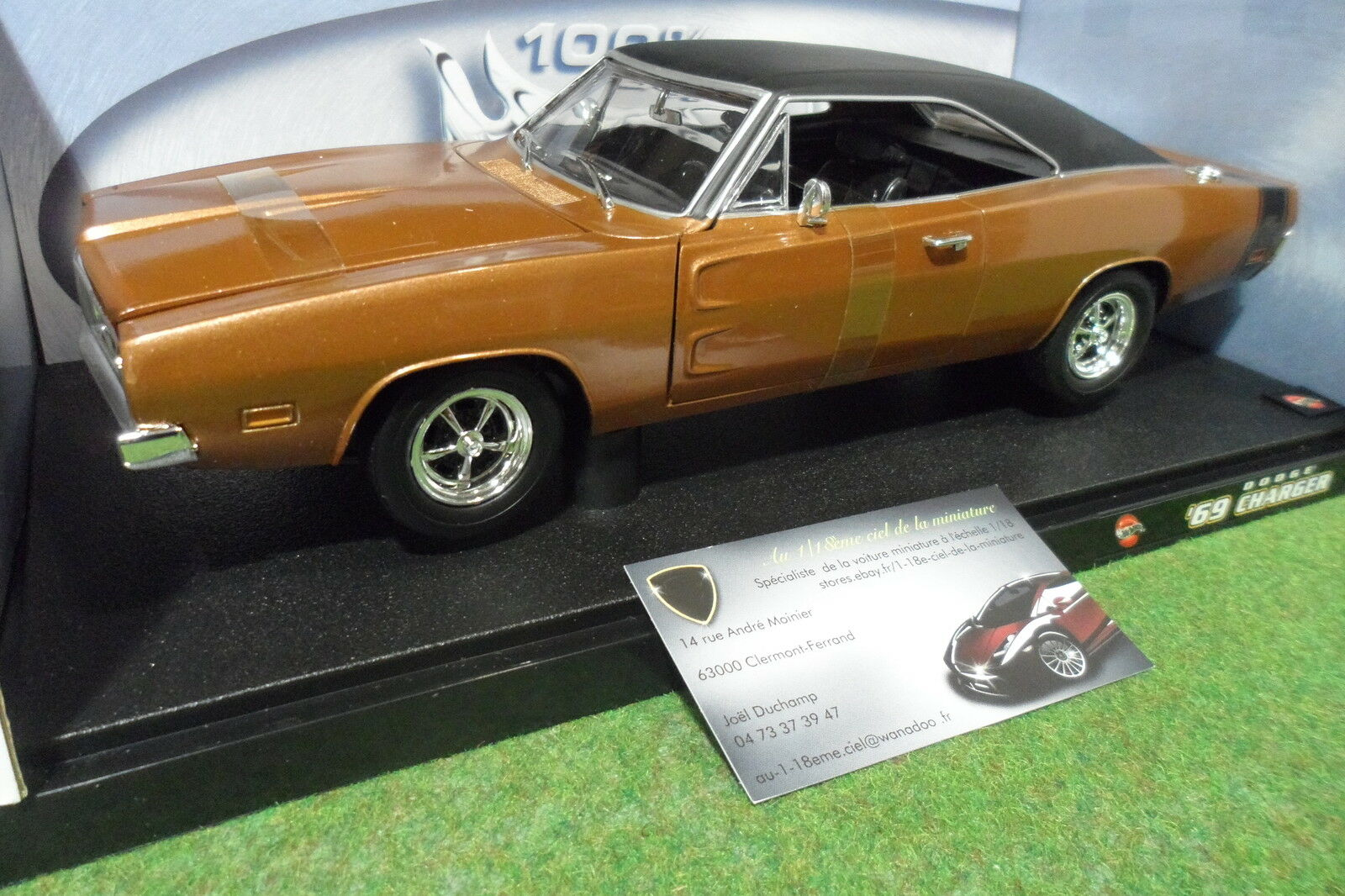 DODGE CHARGER R T 1969 Marronee 1 18 HOT WHEELS 50423 voiture miniature collection