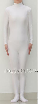 NEW Lycra Spandex Zentai Party Costume Bodysuit Catsuit Unitard No Hood & Hands