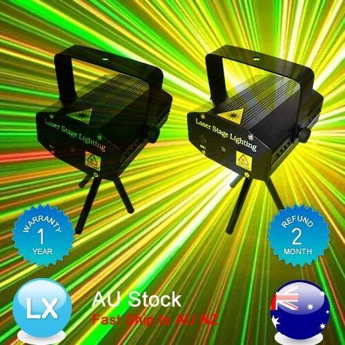 2X OZ Mini Laser Projector Light Party Club Disco DJ Effect Flashing Lighting