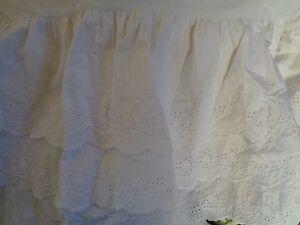New Pottery Barn Baby White Eyelet 3 Tiered Crib Skirt Ebay