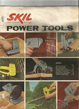 Skil Power Tool Catalog Drills Saws Grinders Sanders 1962