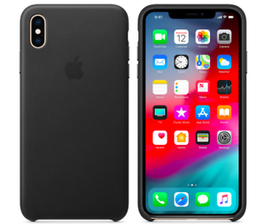 Schwarz-iPhone-XS-Max-Apple-Echt-Original-Leder-Huelle-Leather-Case