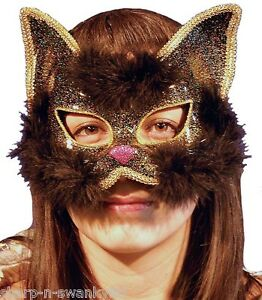 femme sexy paillettes chat noir mardi gras bal masqu animal visage masque yeux ebay. Black Bedroom Furniture Sets. Home Design Ideas