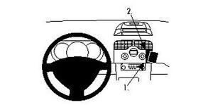 BRODIT PROCLIP 854207 Support de montage pour Renault Kangoo An construction