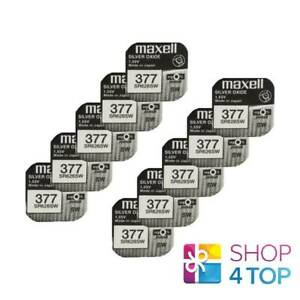 10-MAXELL-377-376-SR626SW-BATTERIES-SILVER-1-55V-WATCH-BATTERY-EXP-2022-NEW