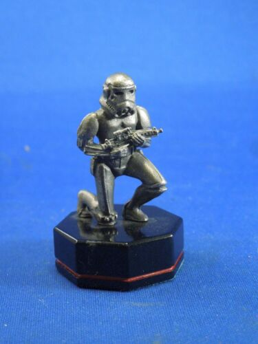 Danbury Mint Star Wars Imperial Stormtrooper Pewter Chess Piece Black Pawn