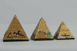 Gold Egyptian pyramids - Three Heavy Pyramids of Khafre, Khufu and Menkaure