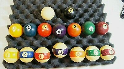 """Details about  /VINTAGE 2 1//4/""""  POOL BILLIARD  BALL #15 STRIPED"""