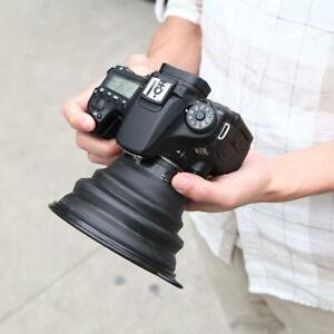 Riflessione-Free-pieghevole-in-silicone-nero-Paraluce-per-Fotocamera-Mobile-Phone
