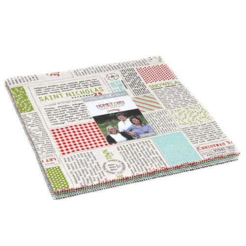 Moda Fabric Hometown Christmas Layer Cake Patchwork Quilting 10 Inch Squares