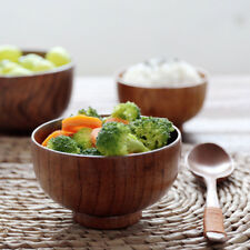 Japanese Style Wooden Bowl Soup//Salad Rice Soup Bowls Natural Wood Tableware